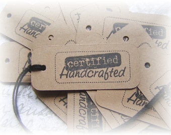 Certified Handcrafted Tags (20)