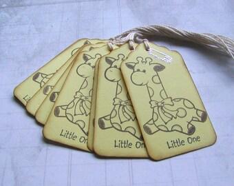 Little One Baby Giraffe tags (10)
