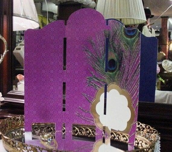 Peacock Paper Folding Screen