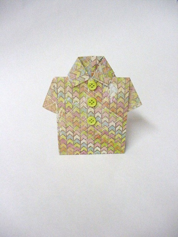 Distressed Multicolored Patterned Shirt Gift Card Holder