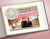 Wedding Guest Book with Monogram - Photo Sign In Book - Made to Order - 11x8.5