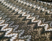 Autumn zigzag knit fabric
