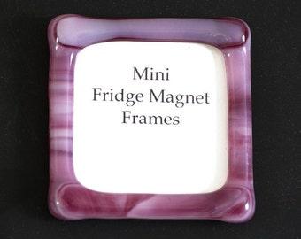 Refrigerator Magnet, Fridge Magnet, Mini Picture Frame, Handmade, Fused Glass, Gift Idea, Picture Frame Magnet