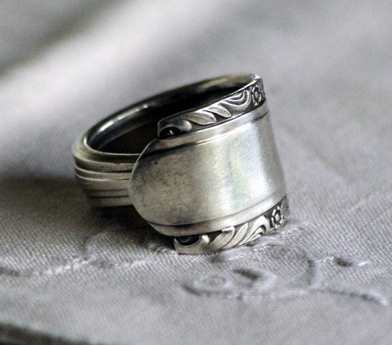 handmade unique silver spoon rings gift for by