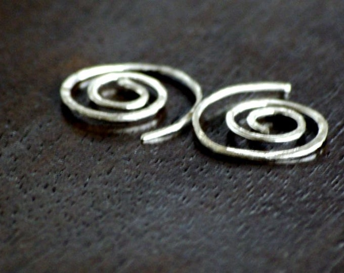 Hoop Earrings Spiral Earrings Gauge African Style Tribal Earrings Sterling Silver