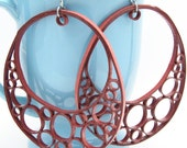 Huge Earrings OOAK Crescent Hoop Statement Jewelry Niobium Eco Friendly Jewelry Artisan hypoallergenic