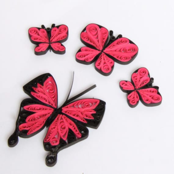Tutorial for Paper Quilled Butterfly Earrings and Pendants PDF DIY Wedding