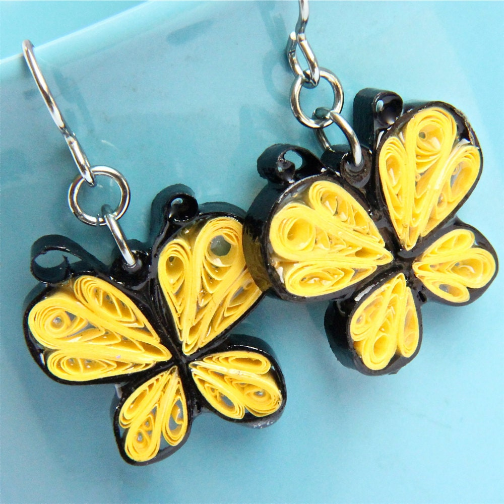 Quilling Earring Designs Butterfly : Unavailable Listing on Etsy