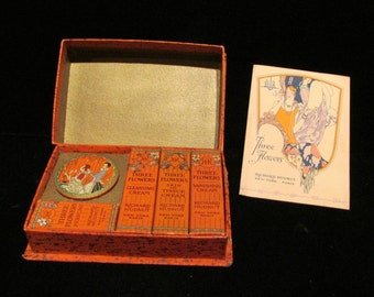 Richard Hudnut Vintage Powder Box Compact Box Acquaintance Box Art Deco Box 1920s Powder Box Travel Kit VERY RARE