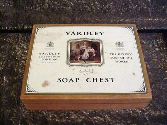 1960's Yardley Wooden Box Soap Chest Storage Box VERY RARE