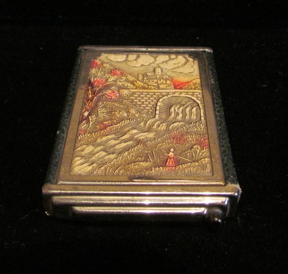 RESERVED FOR IVY Vintage Girey Compact 1930s Powder Compact Rouge Compact Mirror Compact