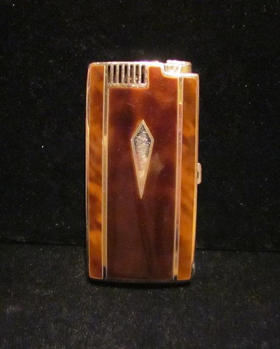 Vintage Cigarette Case Ronson Case Lighter Ronson Pal 1930s Enamel Case Pocket Pal Art Deco Lighter WORKING CASE LIGHTER