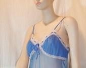 Blue sheer nightdress