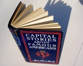 Red, white and blue vintage book Capital Stories about Famous Americans - Love, Heroism and Adventure On Land and Sea