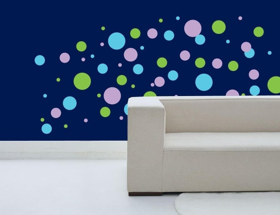 POLKA DOT Wall Decal / 3 color / wall decal dots, dot wall decals, circle wall decals, wall decals for kids, wall decals for boy, baby decal