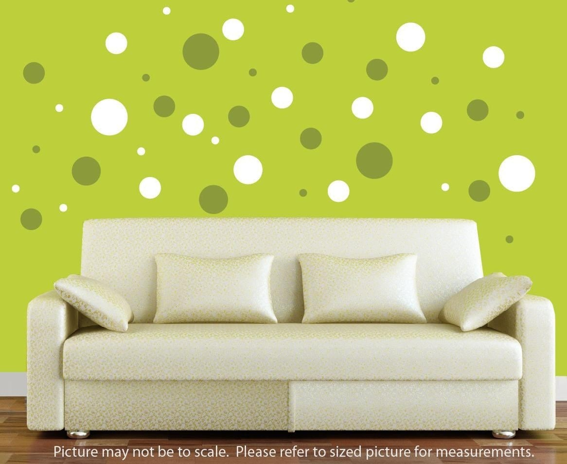 polka dot wall decals 2 colors. Black Bedroom Furniture Sets. Home Design Ideas