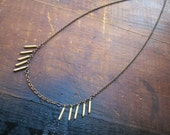 BRASS FRINGE - necklace