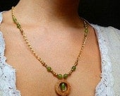 Greens n Golds Wine Cork Necklace