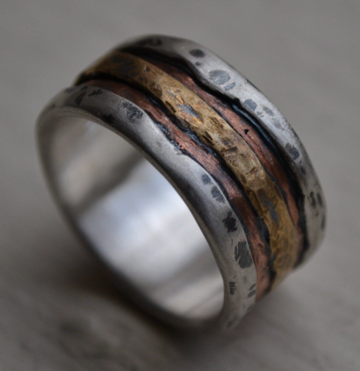 Reserved For Morgan Mens Wedding Band Rustic Fine Silver