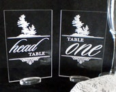 Table Markers Customized  for your Special Event - Acrylic - Engraved