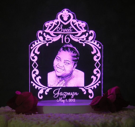 Design Your Own Sweet 16 Cake : Sweet 16 /15 Tiera Photo Etch Cake Topper Light OPTION