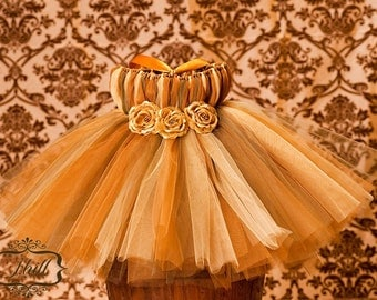 Gold/ willow tutu dress, tutu dress, tutu, baby tutu, tutus, tutu dresses, photo prop, available in size newborn to 24 months.