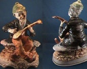 0067  REDUCED Vintage Capodimonte Mandolin Player Figure (United States Only)