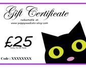 Poppy Seed Cats Gift Certificate