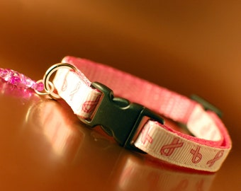 Cat Collar - Breast Cancer Awareness - 20% to Cancer Research UK