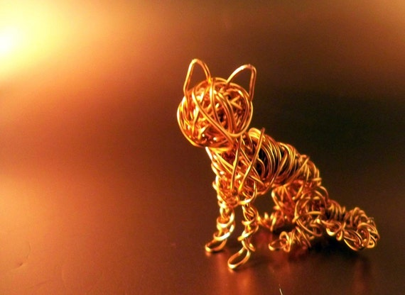 Tiny Wire Kitty Cat