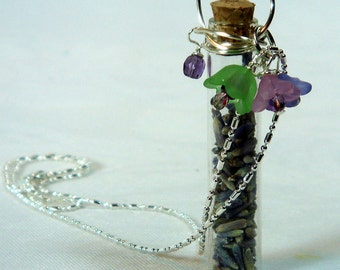 Necklace-Lavender Fields Charm Necklace