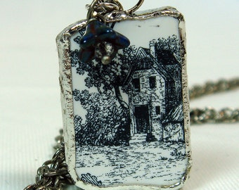 Necklace Little House In The Woods Charm Soldered