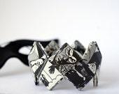 Origami bangle bracelet Diabolik - Italian comic MADE TO ORDER