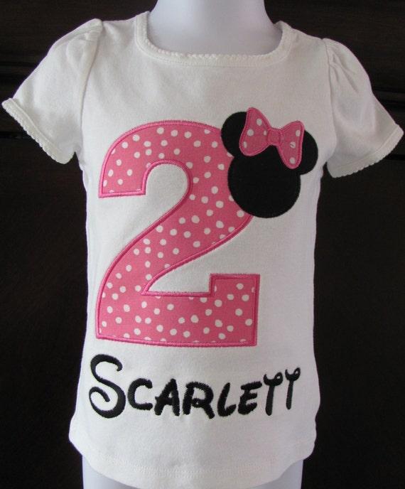 Minnie Mouse Birthday Shirt Personalized Onesie Pink Girls