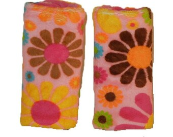 Car seat strap covers, padded strap covers, reversible strap coversStrap covers- Wild Child Minky, Ships Today