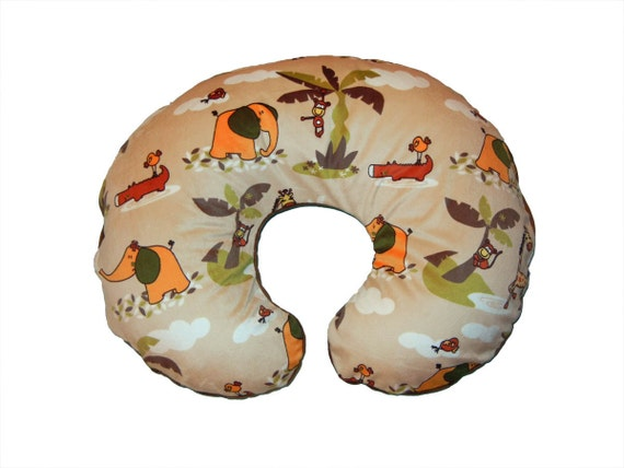 Animal Nursing Pillow : SALE Boppy cover animal Nursing Pillow Cover Safari by isewjo