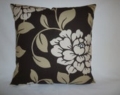 "BIG Brown Cushion Cover Dark Chocolate Pillows Cream Funky Retro Designer Pillowcases Pillow Shams Slips Scatter ONE 22"" (56cm)"