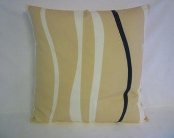 "22"" Cyber Monday Sale BIG Modern Brown Cream Wave Designer Cushion Cover. Pillowcases, Shams, Slips 22"" (56cm)"