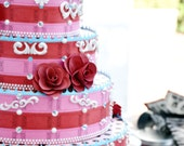 Carnival Roses and Polka Dots Faux Cake