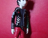 Sid Vicious Punk Brooch Pin