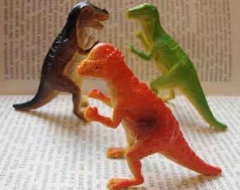 Orange Red Pachycephalosaurus Dinosaur Brooch Pin - Tylosteus - Thick headed lizard Dinosaur Pinback Button