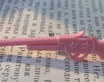 Pretty in Pink Rifle Brooch Pin - Cowgirl Flare - Kawaii