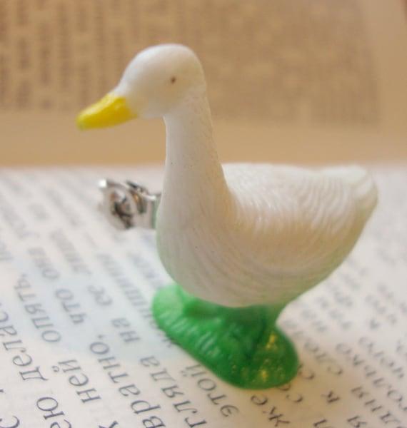 White Duck Brooch Pin - Farm animal series