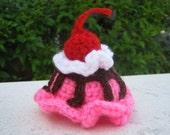 Bubble Gum Pink ice cream scoop hair barrette
