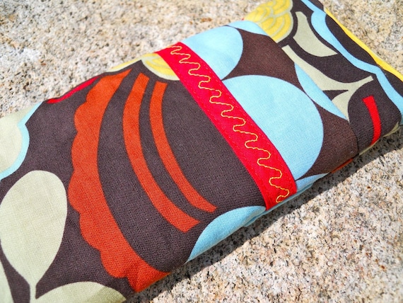 Modern Flower Eye Pillow with Lavender and Flaxseed