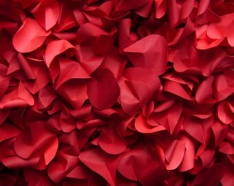 Red Paper Rose Petals
