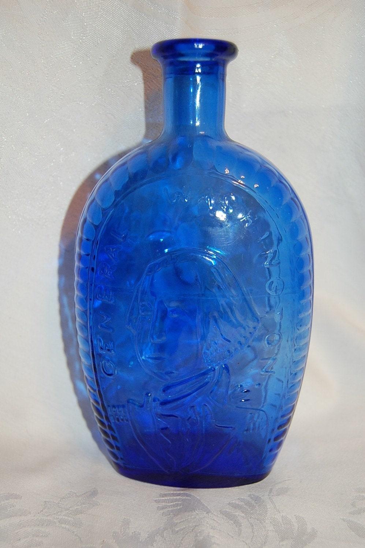 Cobalt Blue General Washington Flask Bottle At The Blue Hours