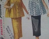 Vintage Simplicity 1099 Maternity Suit Dress Skirt Blouse Top Pattern Size 12