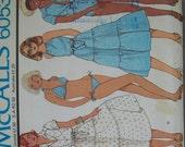 MISSING PIECES Vintage McCalls Womens Misses Shirt Halter Skirt Shorts Bikini Summer Wear Sewing Pattern