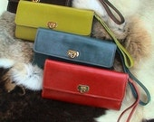 Tri-fold Leather Clutch / Wallet